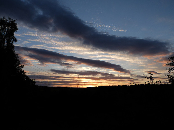 Sunset viewed from Rodley canal